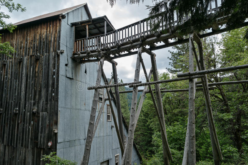Kentucky Mine, Sierra County, California. Mining structures, the Kentucky Mine Historic Park and Museum stock images