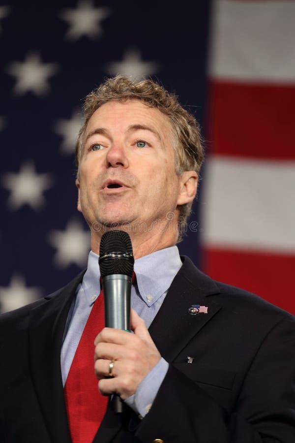Kentucky Senator Rand Paul die voor vlag spreken royalty-vrije stock fotografie
