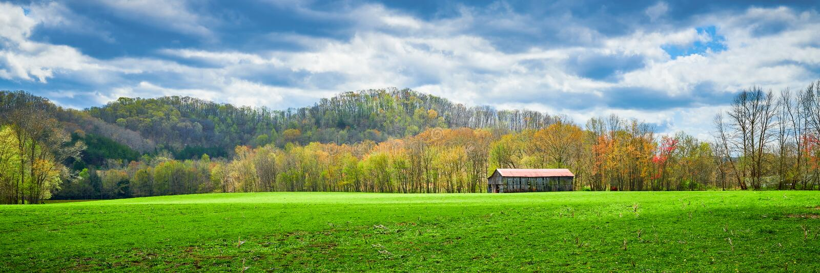 Kentucky Tobacco Barn in Early Spring stock image