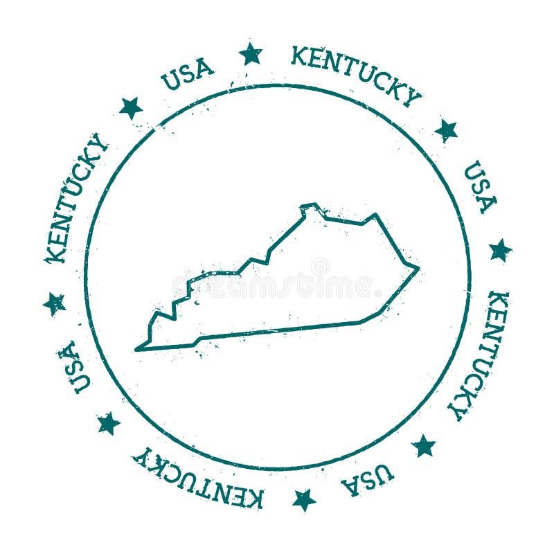 Kentucky-Vektorkarte stock abbildung