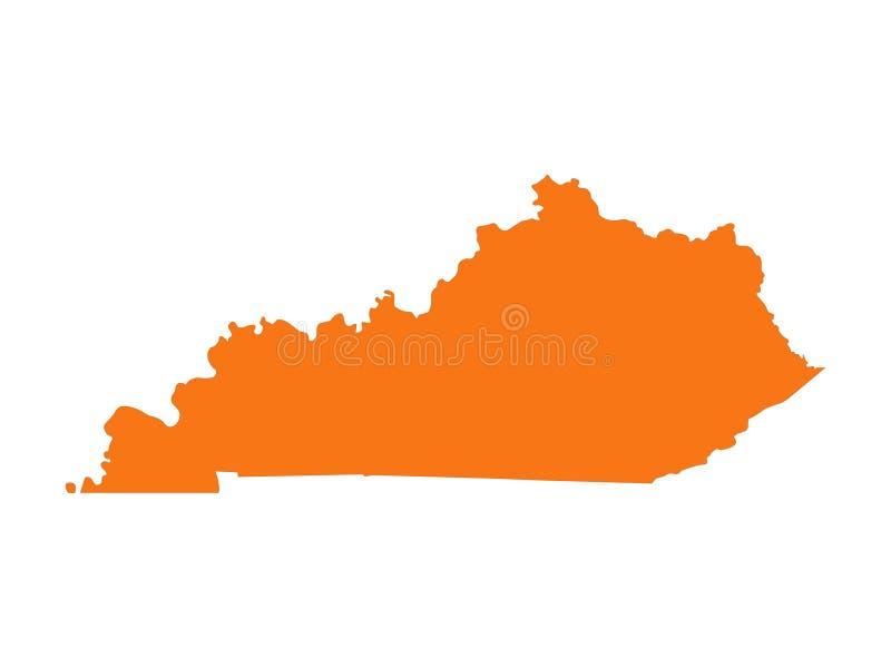 Kentucky ?versikt - brittiska samv?ldet av Kentucky stock illustrationer