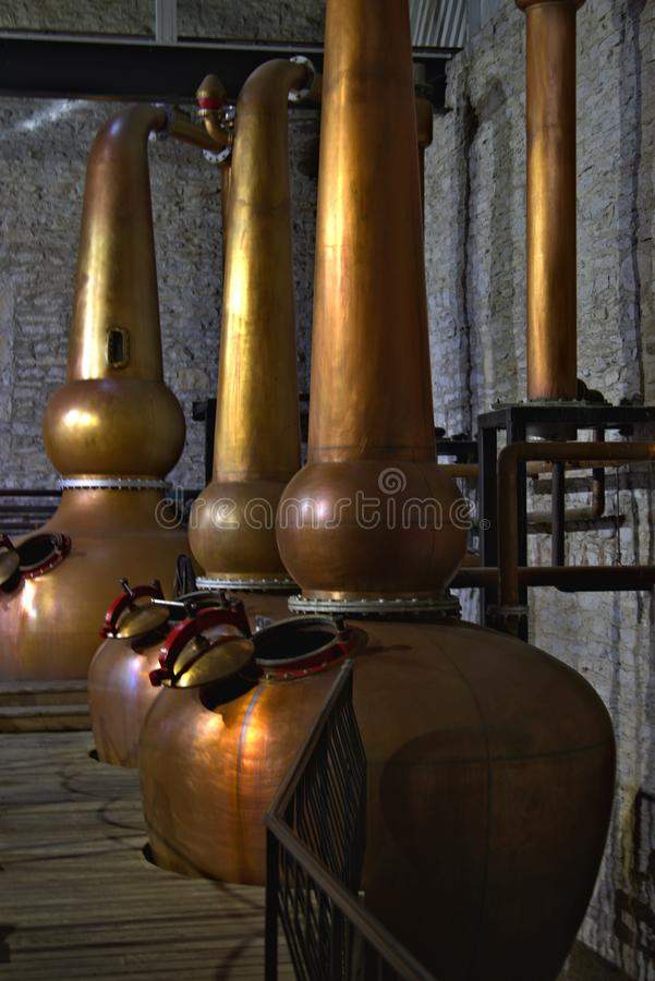 Kentucky, Woodford Reserve, bourbon, distilleerderij, proces, mash royalty-vrije stock foto's