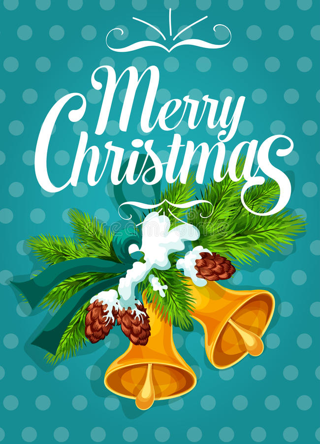 Kenwijsjeklok met de Kerstkaartontwerp van de spartak stock illustratie