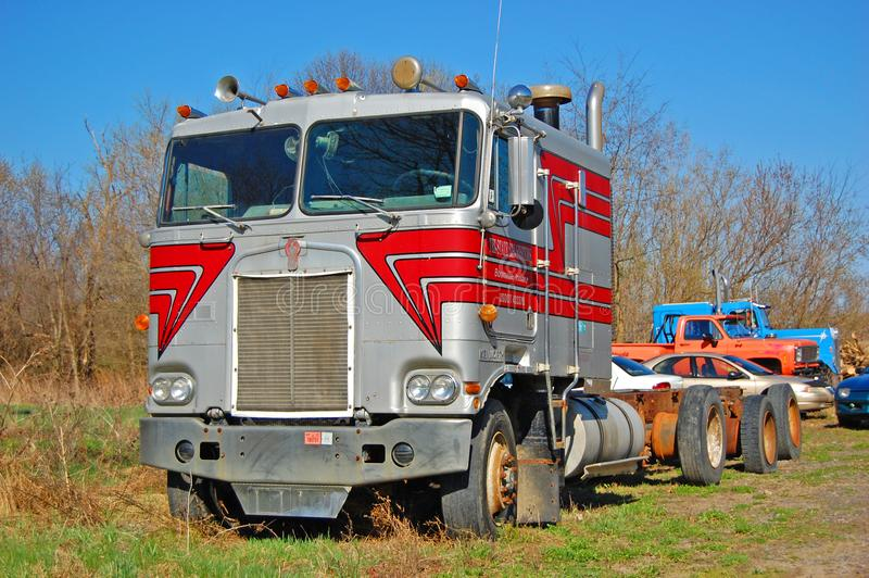 Kenworth K100 Truck, New York, USA royalty free stock images