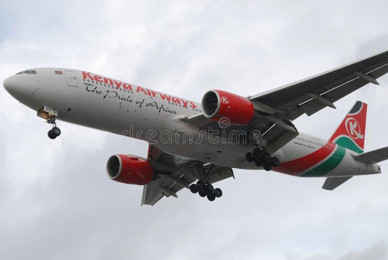 Kenya Airways royalty free stock photography