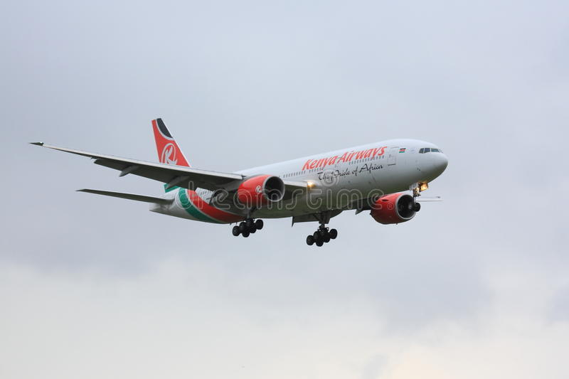 Kenya Airways Boeing 777 stockfotografie