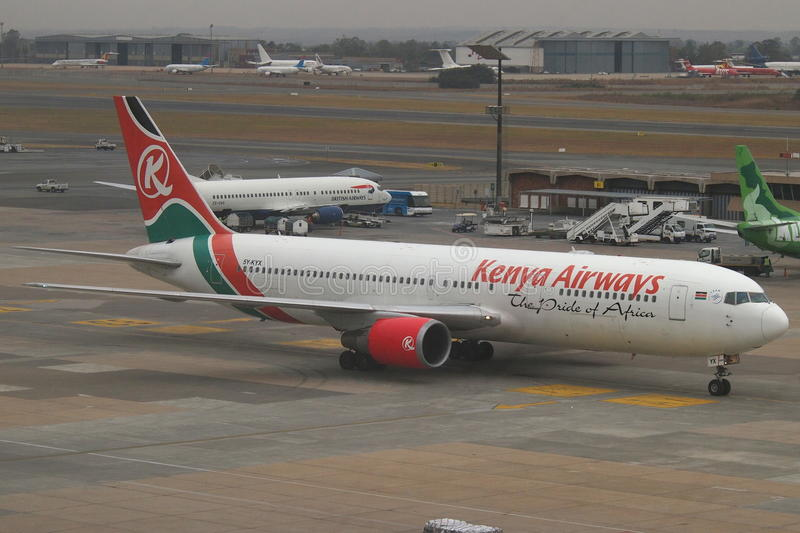 Kenya Airways stock image