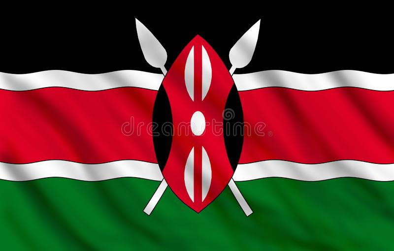 Kenya bandery royalty ilustracja