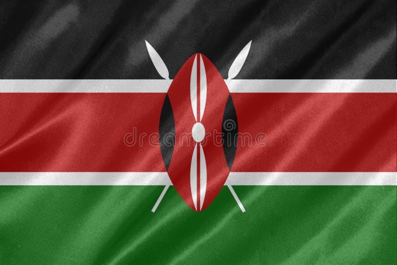 Kenya flagga stock illustrationer