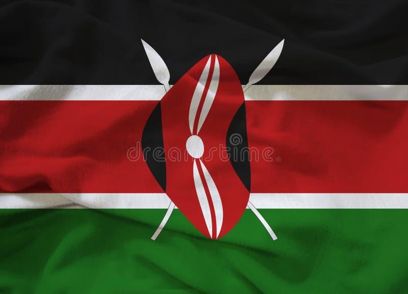 Kenya flagga royaltyfri bild