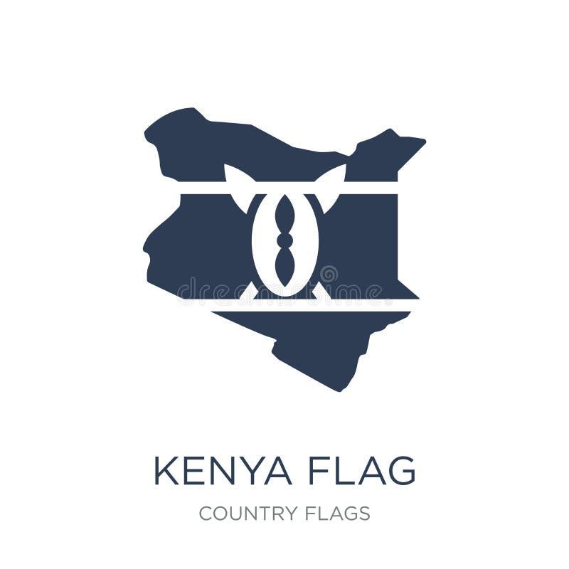 Kenya flaggasymbol  royaltyfri illustrationer