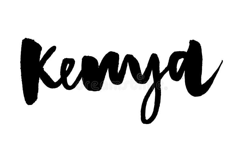 Kenya. Ink hand lettering. Modern brush calligraphy. Handwritten phrase. Inspiration graphic design typography element. Rough. Simple vector sign stock illustration