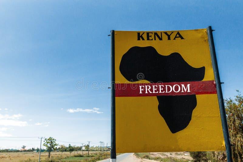 Kenya freedom sign stock photography