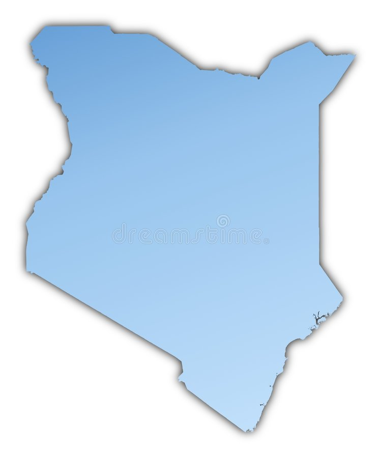 Kenya Map Royalty Free Stock Image