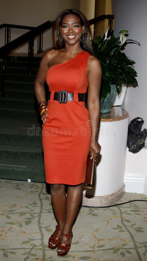 Kenya Moore. At the ESSENCE Black Women in Hollywood Luncheon held at the Beverly Hills Hotel in Beverly Hills, California, United States on February 19, 2009 royalty free stock photos