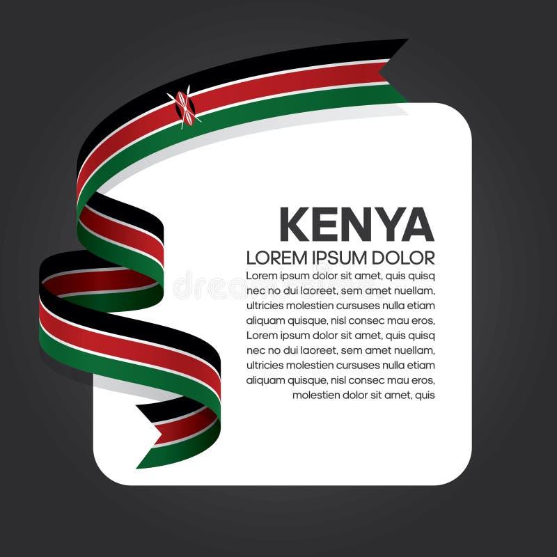 Kenya flag background vector illustration