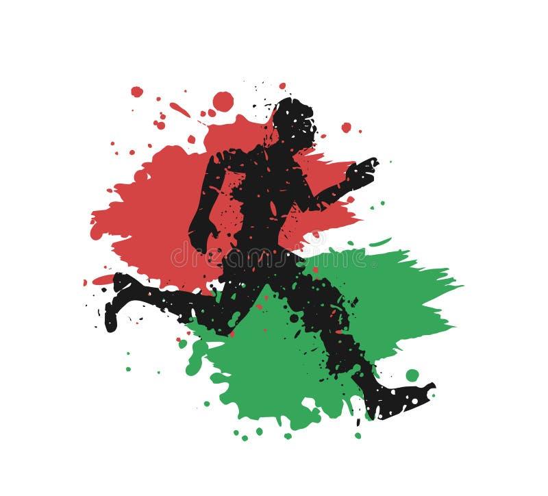 Kenya runner sport. Creative design of  Kenya runner sport royalty free illustration