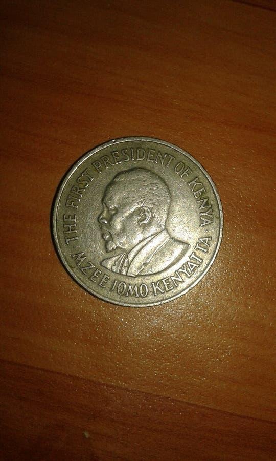 kenya 1 szylinga moneta w 1978 zdjęcie stock