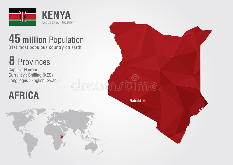 Kenya world map with a pixel diamond texture stock photo image of download kenya world map with a pixel diamond texture stock photo image of population gumiabroncs Image collections