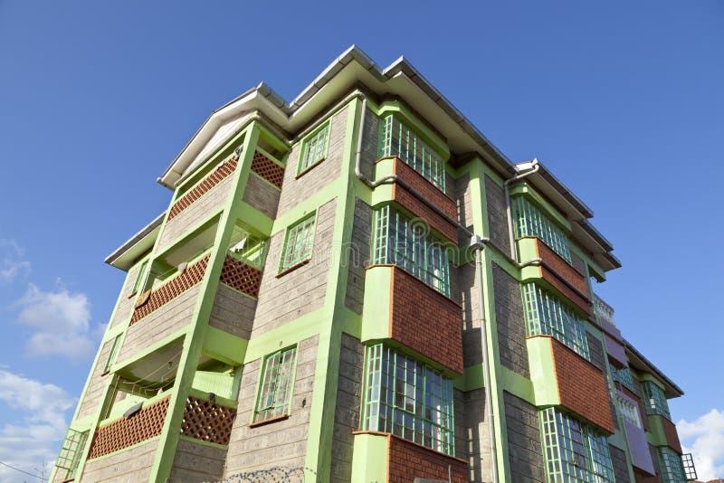 Kenyan Apartment Building imagens de stock