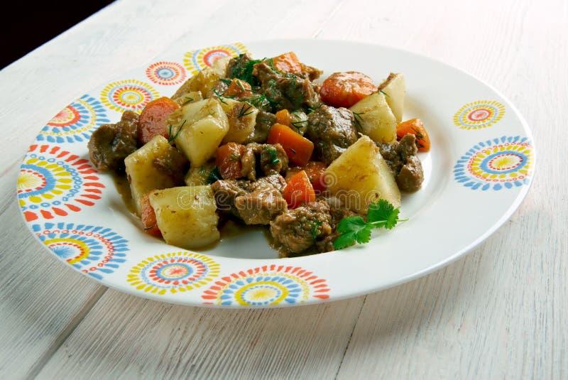 Kenyan Beef Stew royaltyfri bild