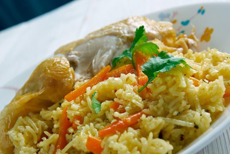 Kenyan biryani. Kenyan Chicken biryani - similar Indian biryan.African cuisine royalty free stock images