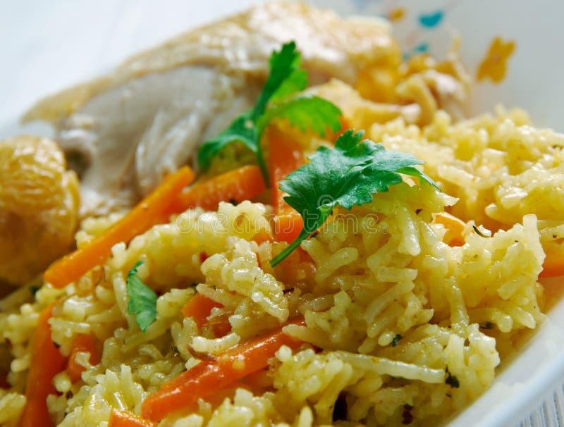 Kenyan biryani. Kenyan Chicken biryani - similar Indian biryan.African cuisine stock photo