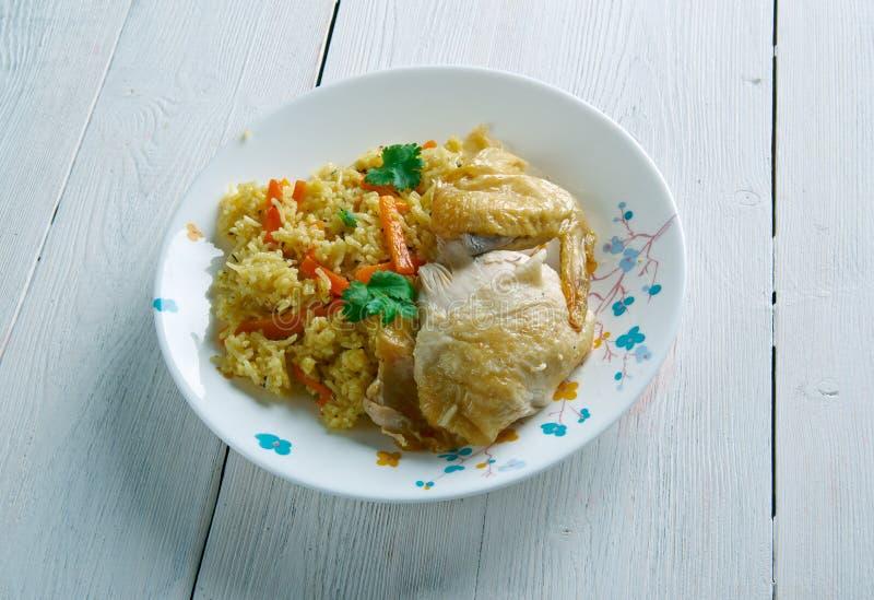 Kenyan biryani. Kenyan Chicken biryani - similar Indian biryan.African cuisine royalty free stock photos