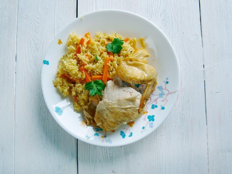 Kenyan biryani. Kenyan Chicken biryani - similar Indian biryan.African cuisine stock photography