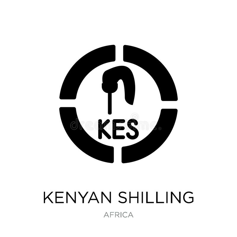 kenyan shilling icon in trendy design style. kenyan shilling icon isolated on white background. kenyan shilling vector icon simple stock illustration