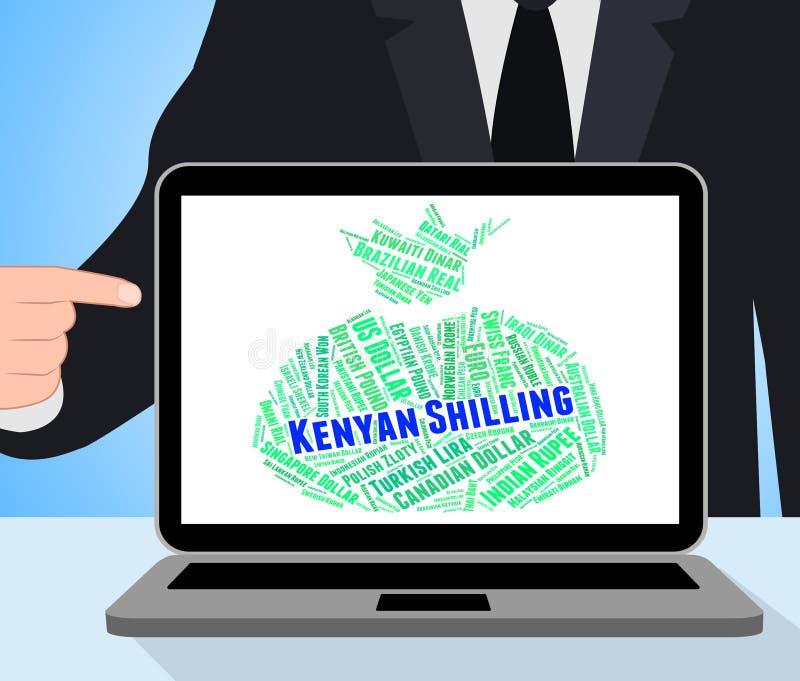 Kenyan Shilling Represents Foreign Currency och sedel royaltyfri illustrationer