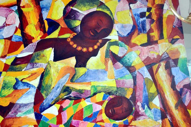 Kenyansk målning royaltyfri foto