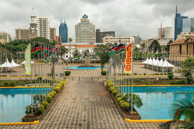 Kenyatta International Conference Centre in Nairobi lizenzfreie stockbilder