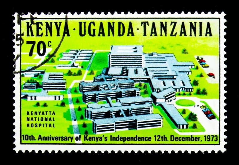 Kenyatta Krajowy szpital, 10th rocznica Kenja Independ, s ' zdjęcia royalty free