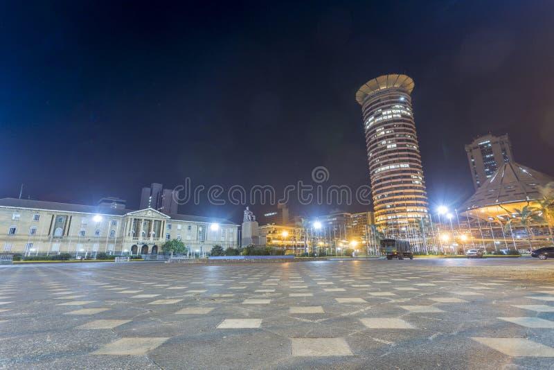 Kenyatta Międzynarodowy convention center i sądownictwo, Nair obraz stock