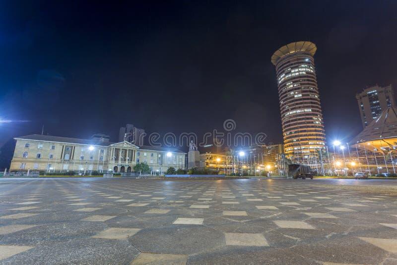 Kenyatta Międzynarodowy convention center i sądownictwo, Nair fotografia stock