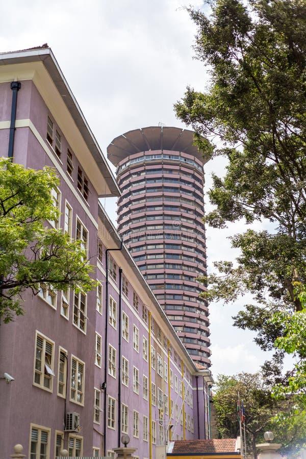 Kenyatta Międzynarodowy convention center, Nairobia, Kenja obrazy stock