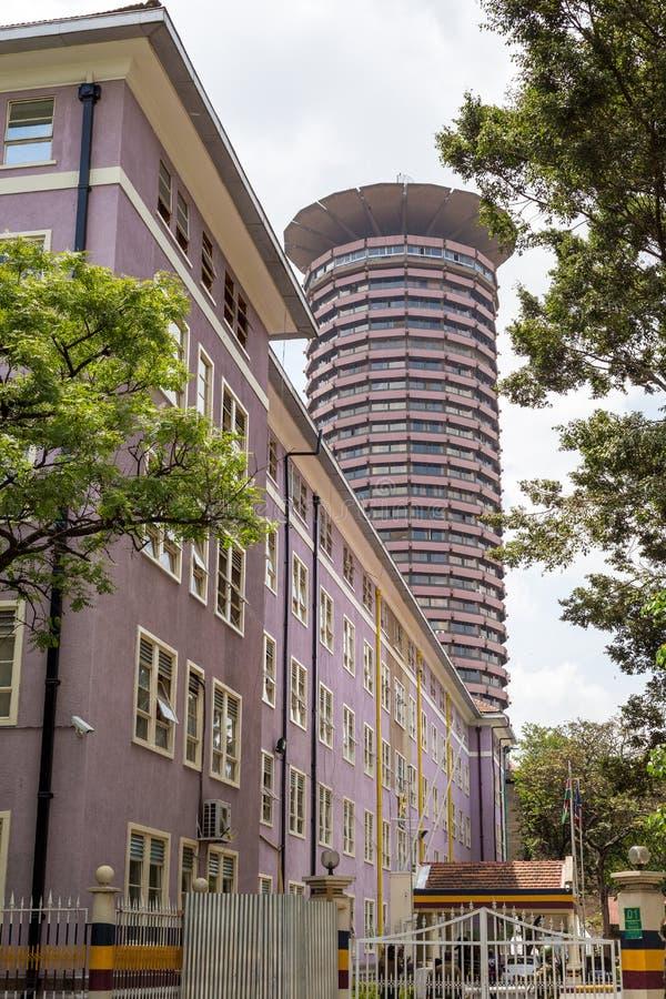 Kenyatta Międzynarodowy convention center, Nairobia, Kenja zdjęcie royalty free
