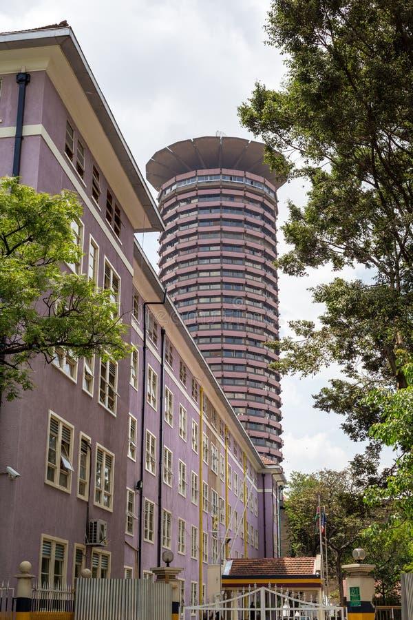 Kenyatta Międzynarodowy convention center, Nairobia, Kenja obraz stock
