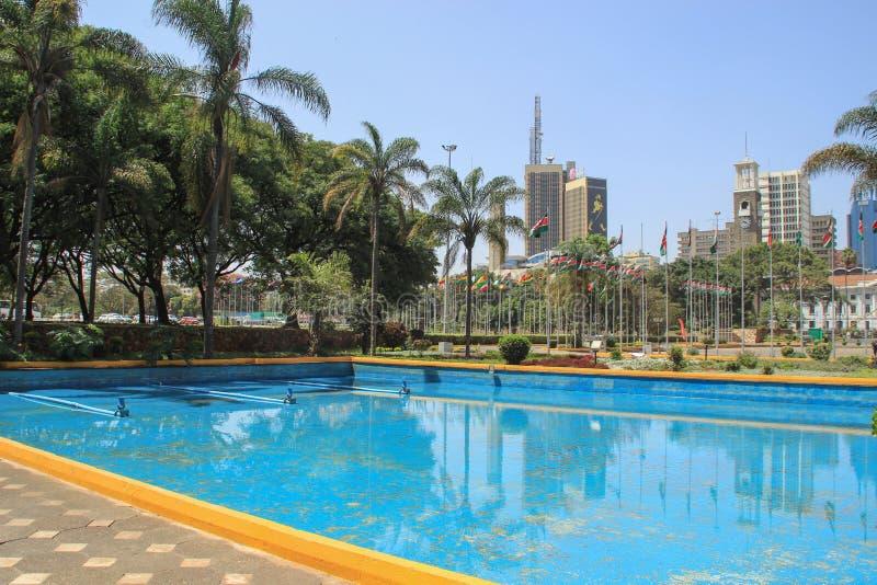 Kenyatta zawody międzynarodowi Convention Center zdjęcia royalty free