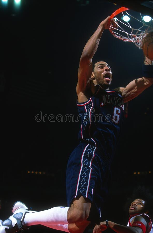 Kenyon Martin. New Jersey Nets star Kenyon Martin.  Image taken from color slide stock photos