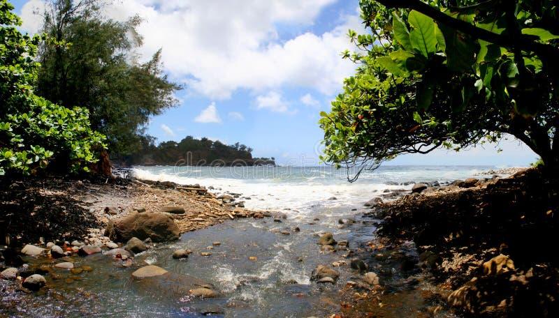 Keokea海滩Kapaau夏威夷 免版税库存照片