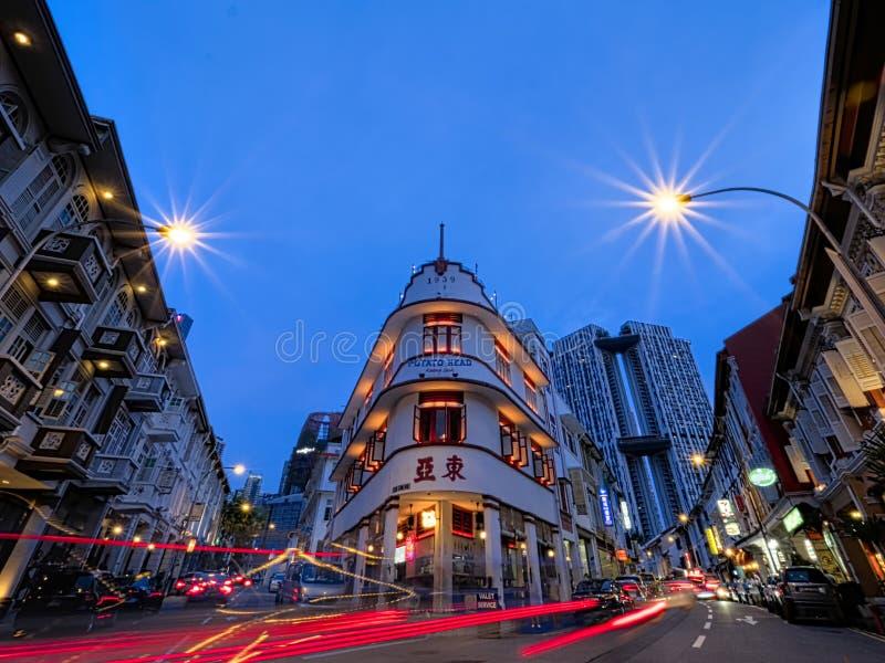 Keong-saik Straßen-Singapur-chintown lizenzfreie stockbilder