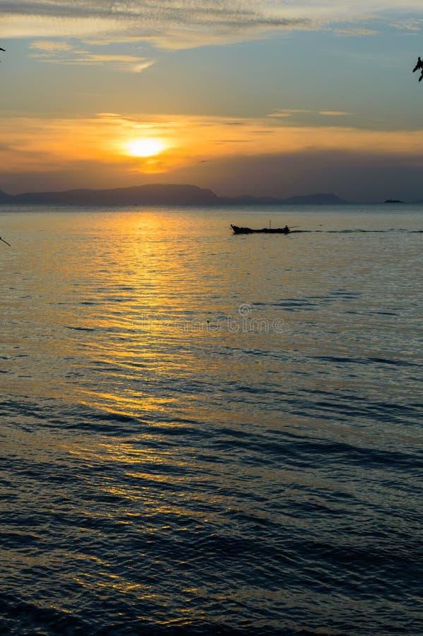 Kep zmierzch, Kambodża zdjęcie royalty free