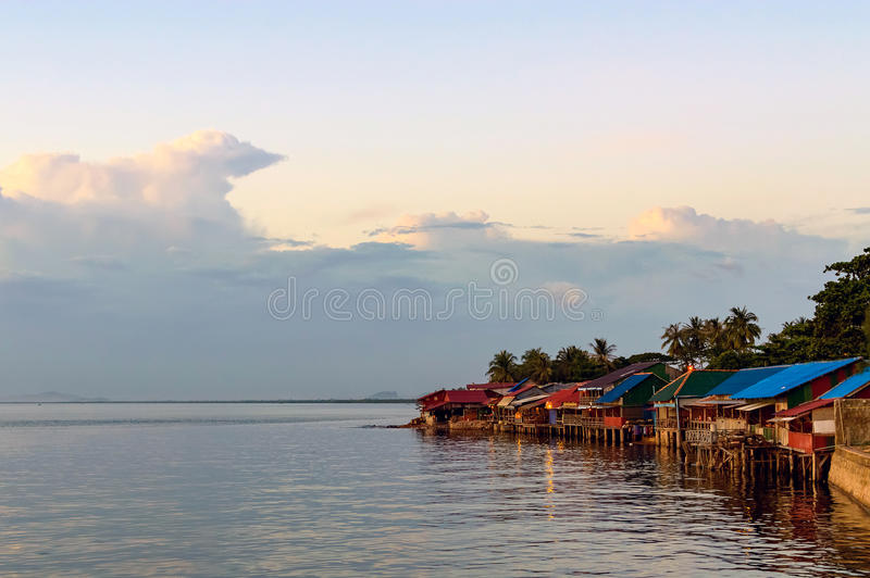 Kep zmierzch, Kambodża obrazy stock