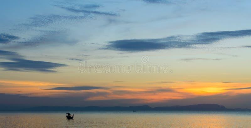 Kep zmierzch, Kambodża fotografia royalty free