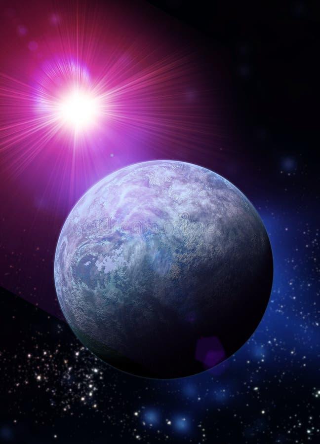 Kepler 20f Erde mag Planeten stock abbildung