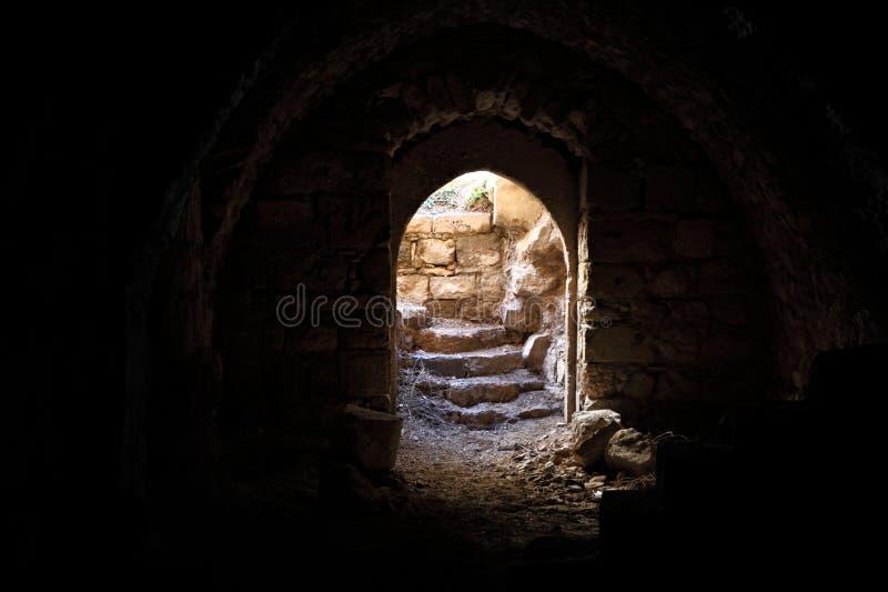 Kerak korsfararefästning, Jordanien arkivfoto
