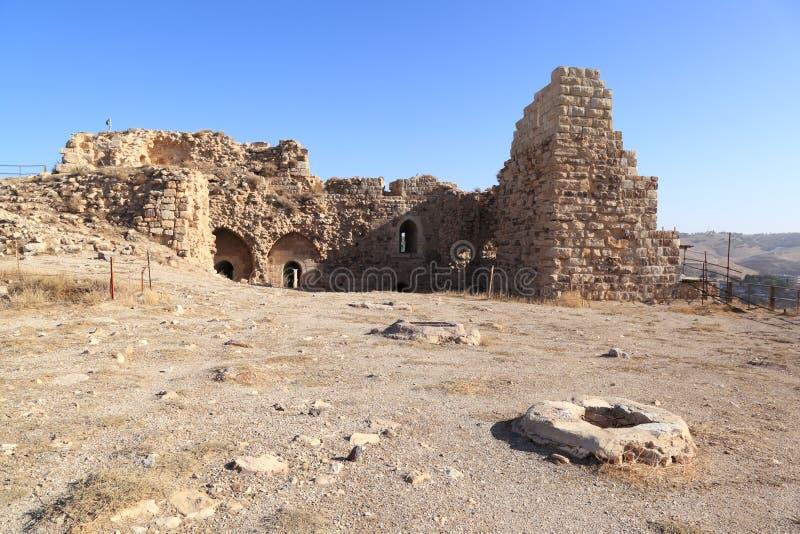 Kerak krzyżowa forteca, Jordania obraz stock