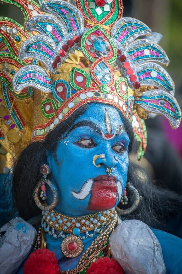 KERALA, ÍNDIA - janeiro, 17: Festival do templo de Pooram em janeiro, fotos de stock